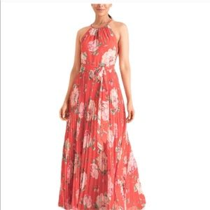 Chicos Maxi Dress Floral Pink